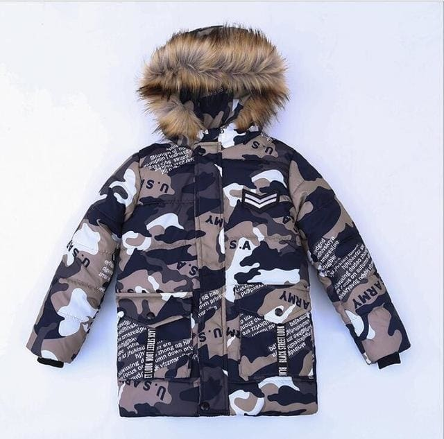 5d43260d7 Winter Jacket Camouflage Coats Fur Hooded Down