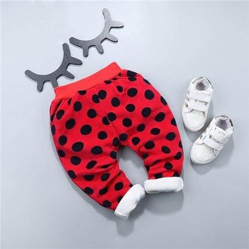Winter Long Pants Polkadot - Baby Girls