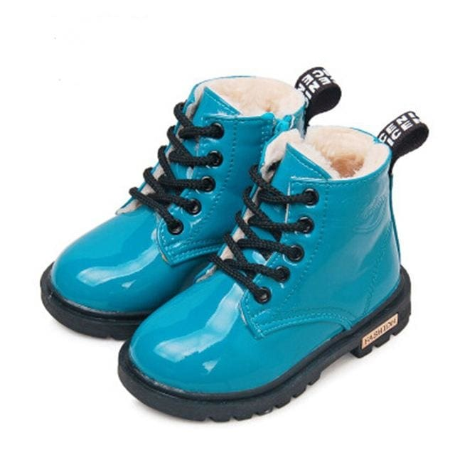 Winter Shoes Pu Leather Waterproof Martin Boots - Boys