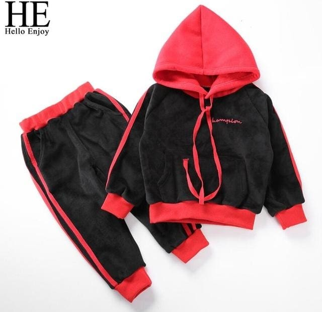 022ff94eb Winter Thick Toddler Boy Sport Suits