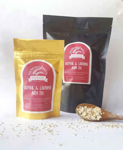Organic Oatmeal & Lavender Milk Bath Bags - Tester pack of 2