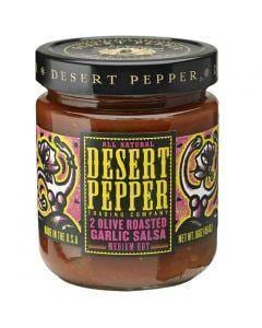 Desert Pepper 2 Olive Roasted Garlic Salsa - Medium 454g