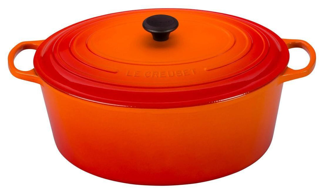 Le Creuset 4.7L Oval Cast Iron Dutch Oven Flame