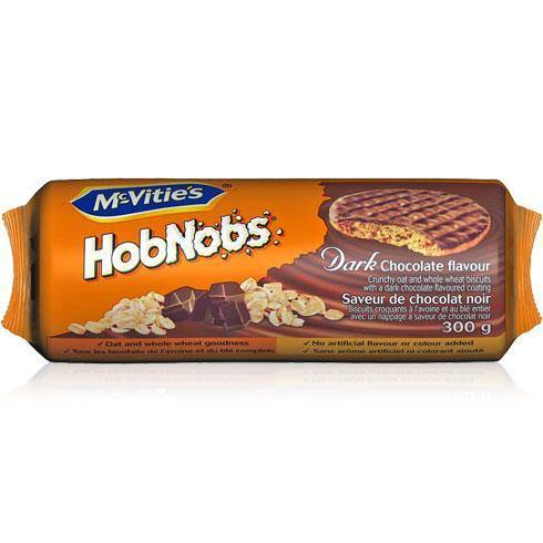 McVities Hobnobs Dark Chocolate 300g