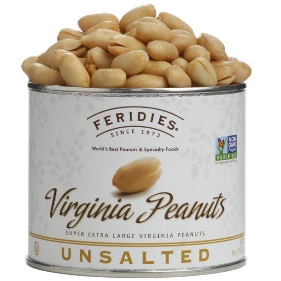 Feridies Unsalted Virginia Peanuts - 9oz