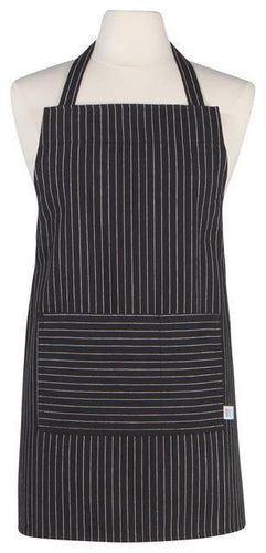 Now Designs Junior Apron Black Pinstripe