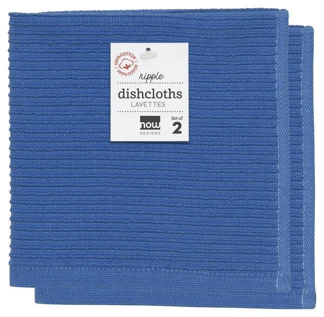 Now Designs Ripple Dish Cloths Set of 2 Royal Blue
