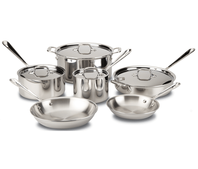 All-Clad D5 Polished 10 Piece Set