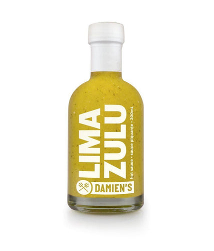 Damien's Lima Zulu Fresh Lime Hot Sauce 200ml - Kitchenalia Westboro