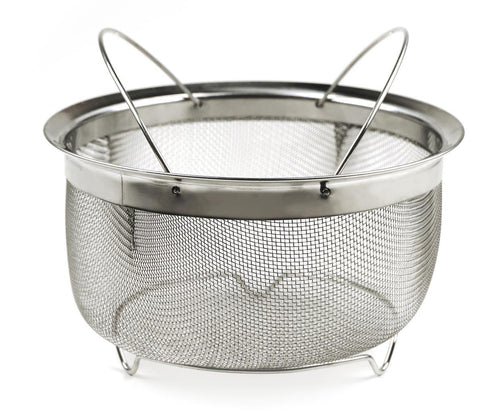 RSVP Mesh Basket With Folding Handles - Kitchenalia Westboro