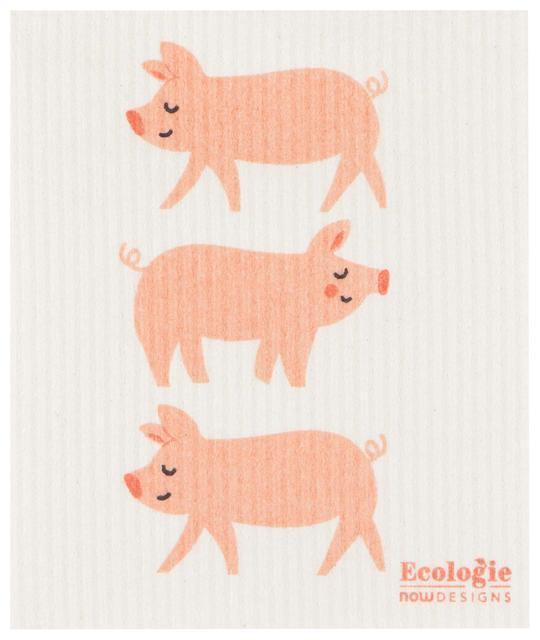 Now Designs Swedish Sponge Cloth Penny Pig