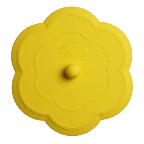 RSVP Yellow Flower Silicone Sink Stopper
