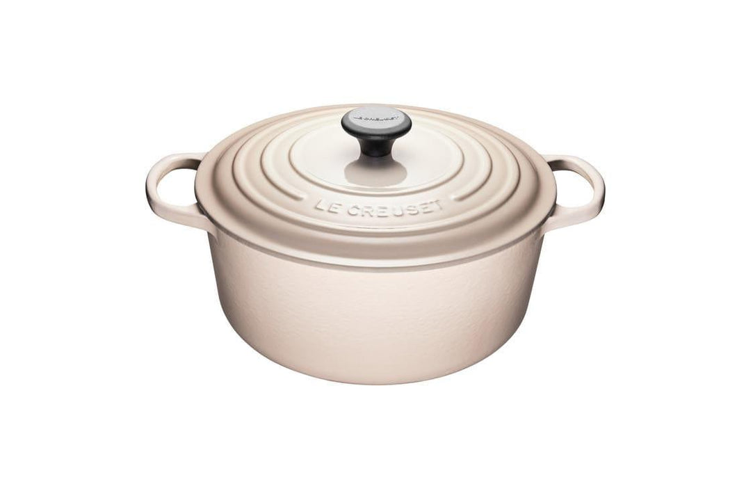 Le Creuset 6.7L Round Cast Iron Dutch Oven Meringue