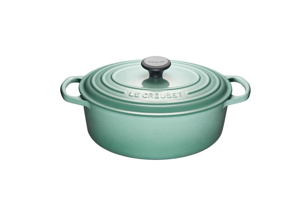 Le Creuset 4.7L Oval Cast Iron Dutch Oven Sage