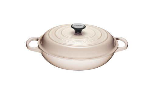 Le Creuset 3.5L Cast Iron Braiser Meringue