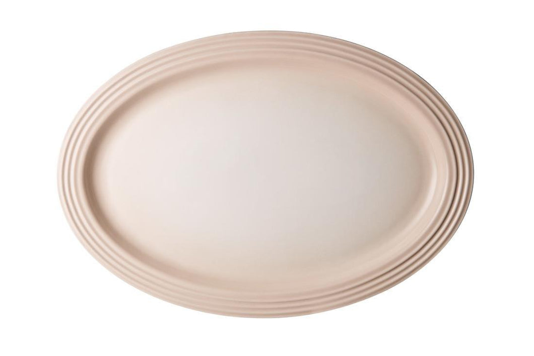 Le Creuset 46cm Oval Ceramic Serving Platter Meringue