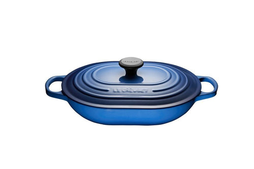 Le Creuset 3.4L Cast Iron Oblong Casserole Blueberry
