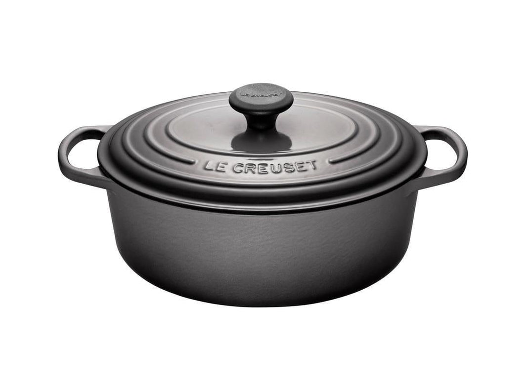 Le Creuset 4.7L Oval Cast Iron Dutch Oven Oyster