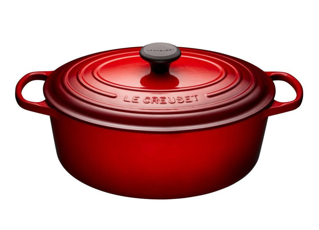 Le Creuset 6.3L Oval Cast Iron Dutch Oven Cerise