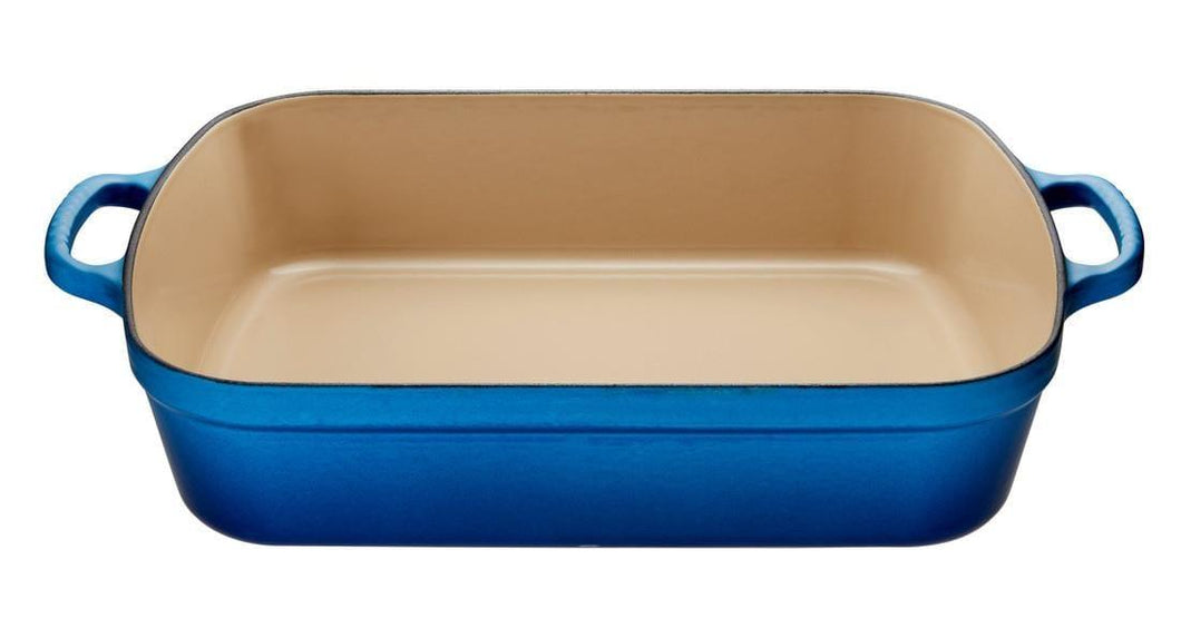 Le Creuset 4.9L Rectangle Cast Iron Roasting Pan Blueberry
