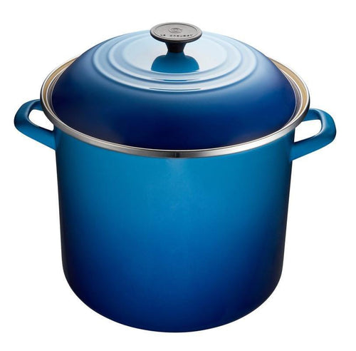 Le Creuset 11.4L Enameled Steel Stockpot Blueberry