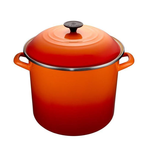 Le Creuset 11.4L Enameled Steel Stockpot Flame