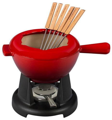 Le Creuset 1.6L Traditional Fondue Set Cerise