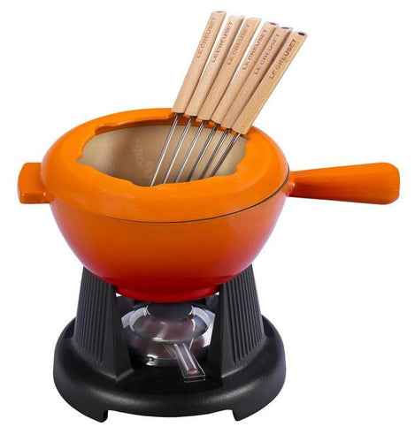 Le Creuset 1.6L Traditional Fondue Set Flame