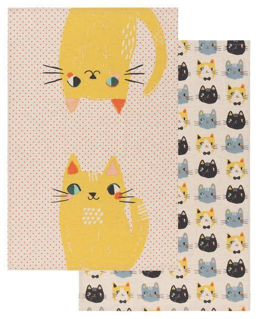 Danica Studios Meow Meow Dishtowels Set Of 2