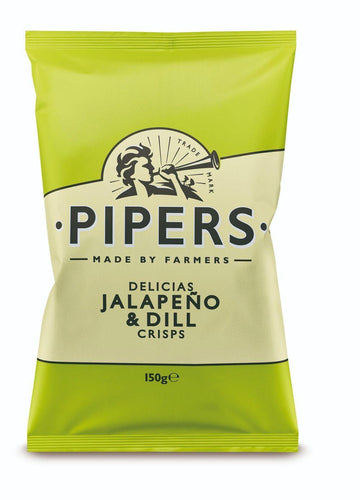 Pipers Delicias Jalepeno & Dill Crisps 150g