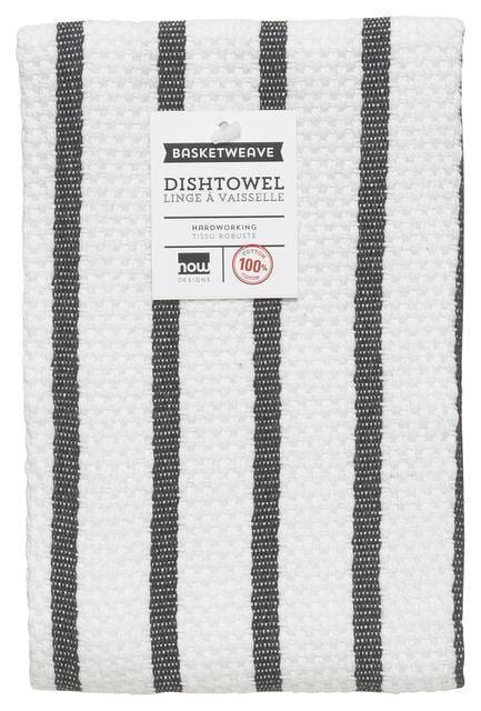 Now Designs Basketweave Dishtowel Black