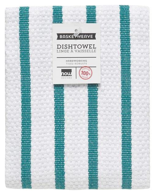 Now Designs Basketweave Dishtowel Peacock