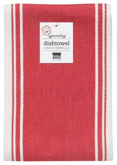Now Designs Symmetry Dishtowel Red