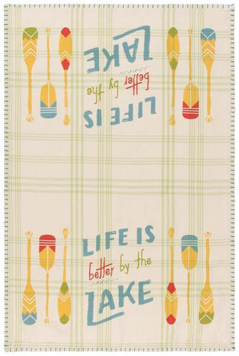 Now Designs Dishtowel Lake Life