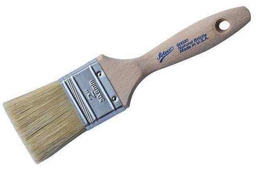 "Ateco 2"" Flat White Boar Bristle Pastry Brush"