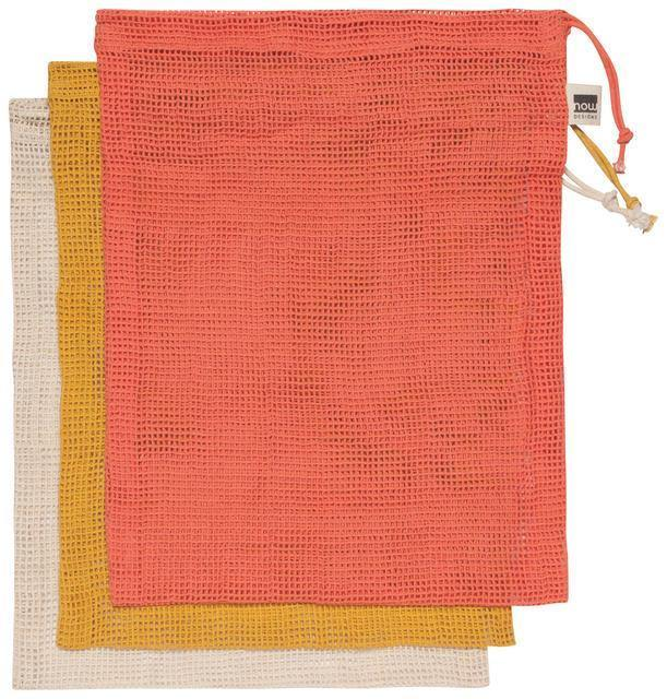 Now Designs Produce Bags Set Of 3 Coral