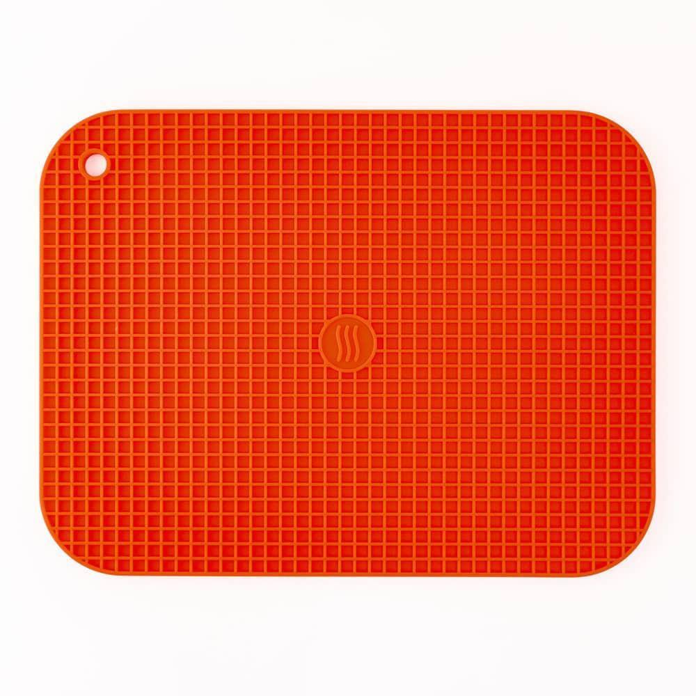 Thermoworks Large Silicone Trivet Orange