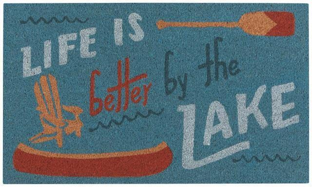 Now Designs Vinyl Backed Doormat Lake Life