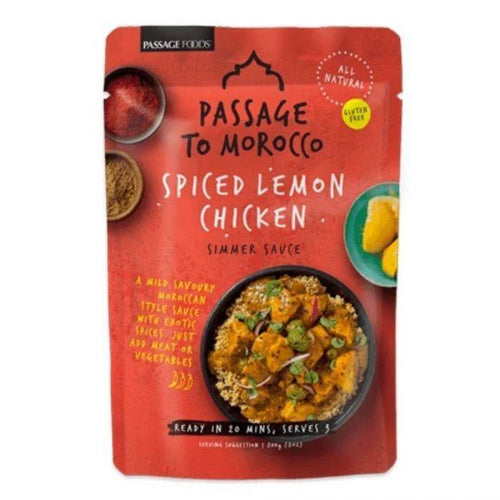 Passage to Morocco Spiced Lemon Chicken Simmer Sauce 200g
