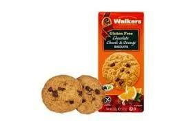 Walkers Gluten Free Chocolate Chunk & Orange Biscuit 150g