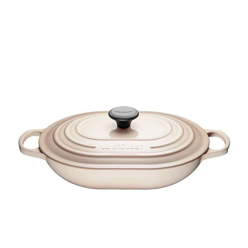 Le Creuset 3.4L Cast Iron Oblong Casserole Meringue