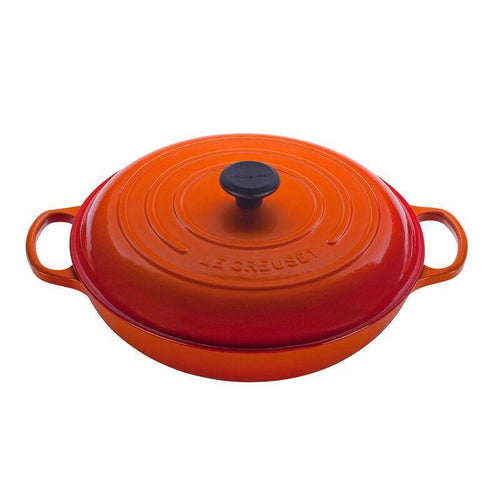Le Creuset 4.7L Cast Iron Braiser Flame