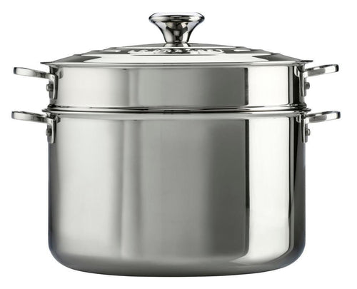 Le Creuset 8.3L Stainless Steel Stockpot With Pasta Insert