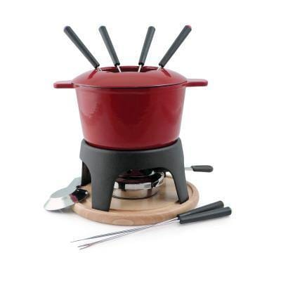 Swissmar Sierra 11 Piece Fondue Set Red