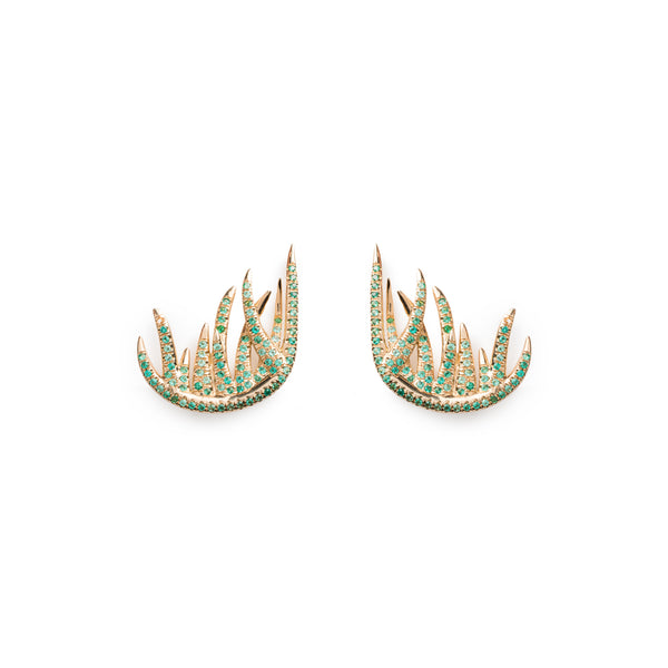 Grass Ear Climber Earrings