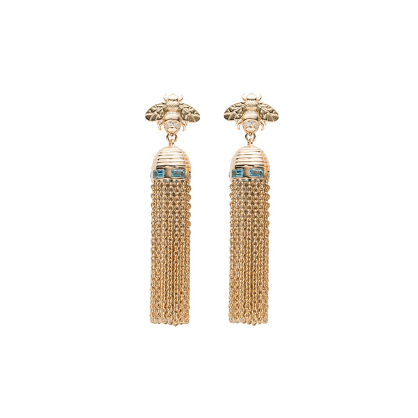 Bee-Hive Tassel Earrings
