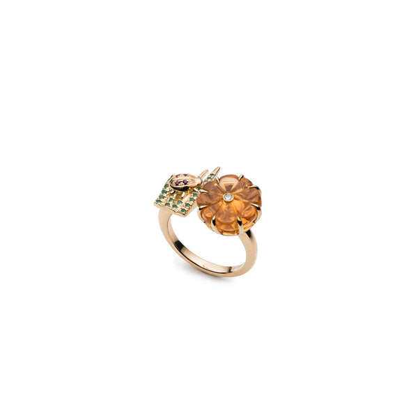 Wildflower & Grass Double Sided Ring