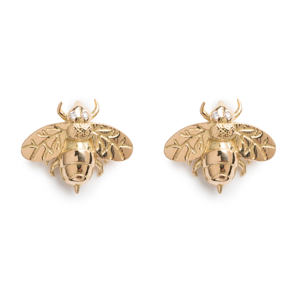 Small Bee Stud Earrings