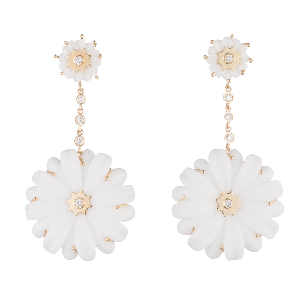 Editorial Double Wildflower Drop Earrings