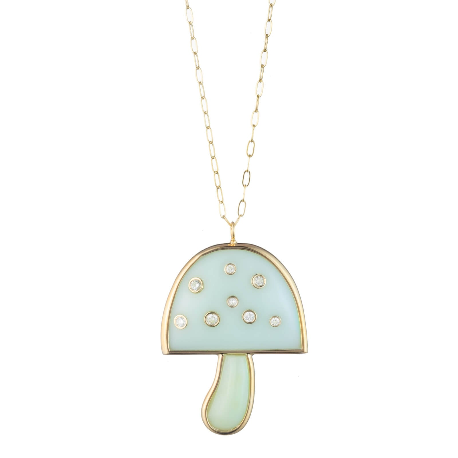 "Diamond Magic Mushroom Pendant on 32"" Chain"